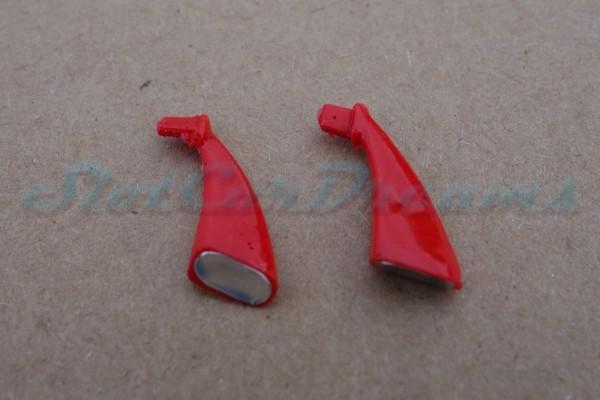 """Carrera 124 Corvette C7.R flexible Spiegel Rot => """"Paar"""