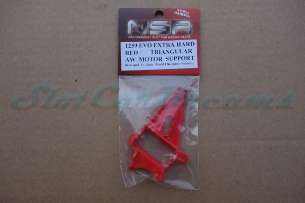 NSR Motorhalter AW Triangular Extra Hard Red