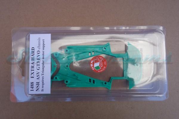 NSR ASV GT3 Chassis Triangular EVO2 Extra Hard Green