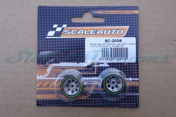 "Scaleauto ProComp 2 Rad 20,5 x 11 mm => ""Paar"""
