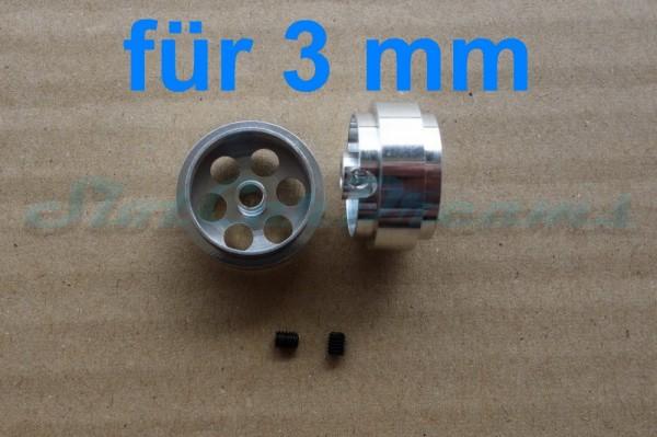 """Slotdevil Stegfelge 18,5 x 9,5 mm für Achse 3 mm ALU => """"Paar"""""""