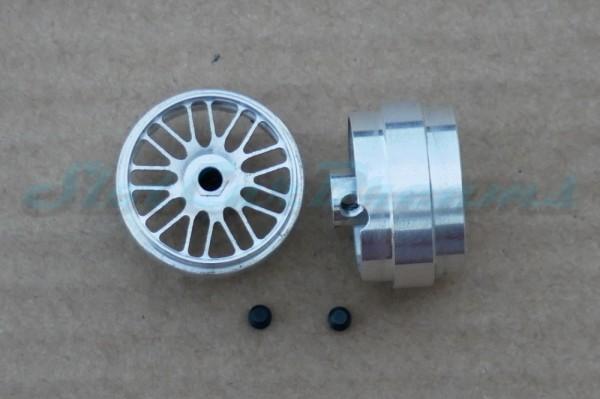 """Slotdevil Stegfelge BBS 23,5 x 13 mm für Achse 3 mm ALU => """"Paar"""""""