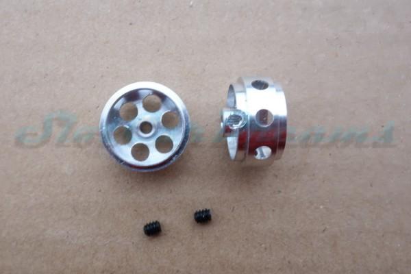 """NSR Stegfelge 16,5 x 8 mm gelocht für Achse 2,35 mm ALU => """"Paar"""""""
