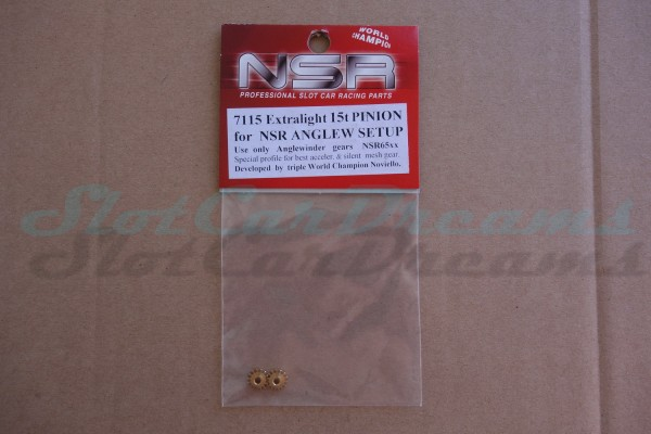 """NSR Motorritzel AW 7,5 mm 15 Zähne Messing => """"Stück"""""""