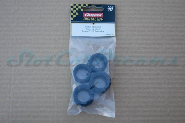 """Carrera 124 Ferrari 512 Reifen => """"Set"""""""