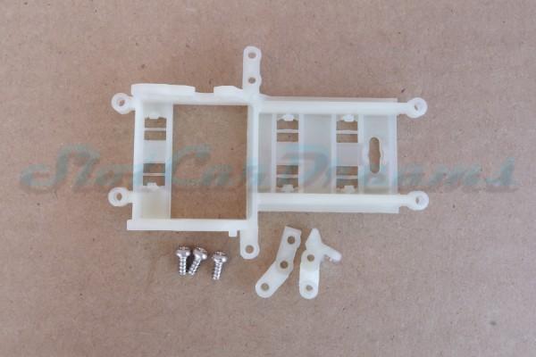 """Slot.it Achs / Motorhalter SW EVO 6 Offset 1 mm für normale Kugellager => """"Set"""""""