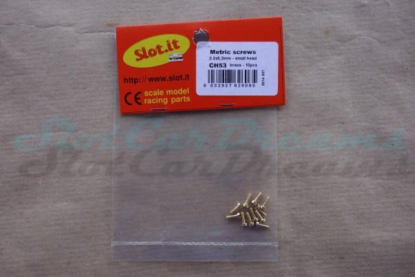 """Slot.it Karosserie Schraube 2,2 x 5,3 mm kleiner flacher Kopf => """"Stück"""""""