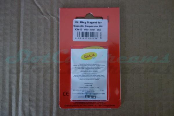 """Slot.it Magnetset für CN10 Magnetic Fahrwerkdämpfung 6 x 1,5 mm => """"Set"""""""