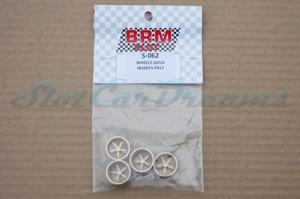 """BRM Porsche 917 Felgeneinsatz Gold => """"Set"""""""