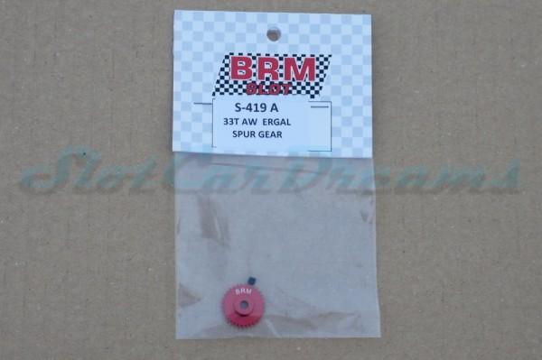 BRM / RevoSlot Schrägzahnrad Metall 33 Zähne für 3 mm