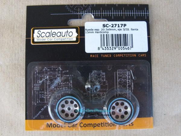 "Scaleauto Hardcomp Rad 20,5 x 9 mm => ""Paar"""