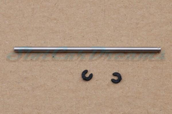 """Slotdevil Achse 3 x 80 mm für Vorderachse mit Nut und Sprengring => """"Stück"""""""