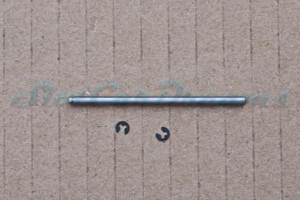 """Slotdevil Achse 2,38 x 50 mm für Vorderachse mit Nut und Sprengring => """"Stück"""""""