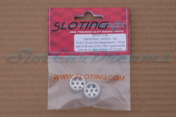 """Sloting Plus Stegfelge 15,9 x 10 mm für Achse 2,38 mm ALU => """"Paar"""""""