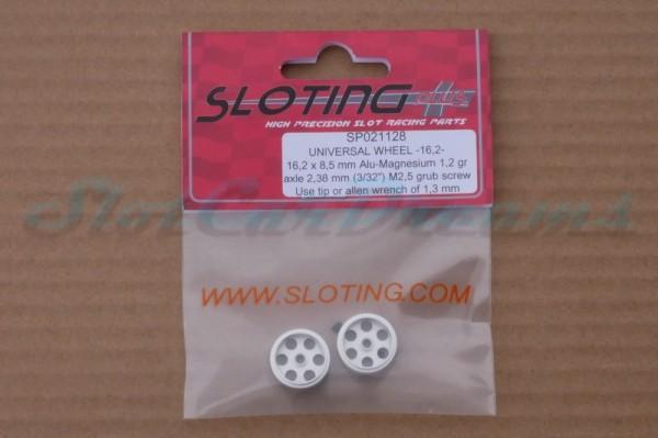 """Sloting Plus Stegfelge 16,2 x 8,5 mm für Achse 2,38 mm ALU => """"Paar"""""""
