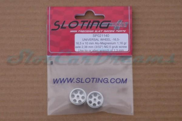 """Sloting Plus Stegfelge 16,5 x 10 mm für Achse 2,38 mm ALU => """"Paar"""""""