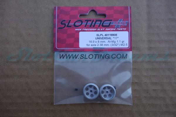 """Sloting Plus Stegfelge 16,9 x 8,5 mm für Achse 2,38 mm ALU => """"Paar"""""""