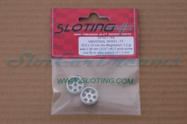 """Sloting Plus Stegfelge 16,9 x 10 mm für Achse 2,38 mm ALU => """"Paar"""""""