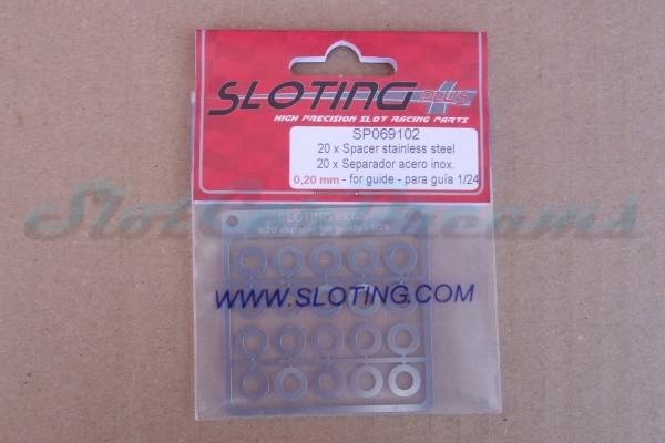 """Sloting Plus Leitkieldistanzscheibe 0,2 mm für 124 Leitkiele => """"Stück"""""""