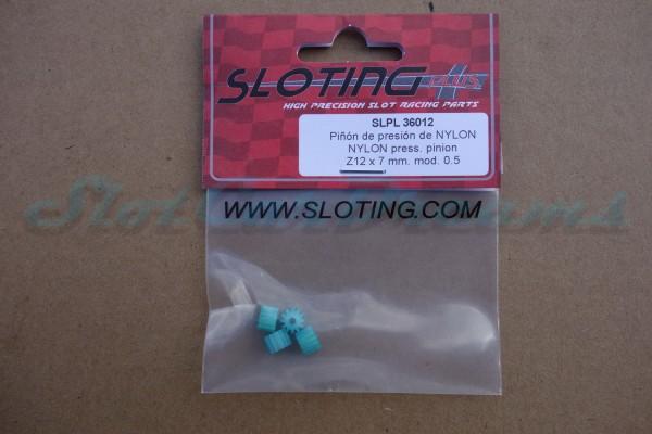 """Sloting Plus Motorritzel 7 mm 12 Zähne Kunststoff => """"Stück"""""""