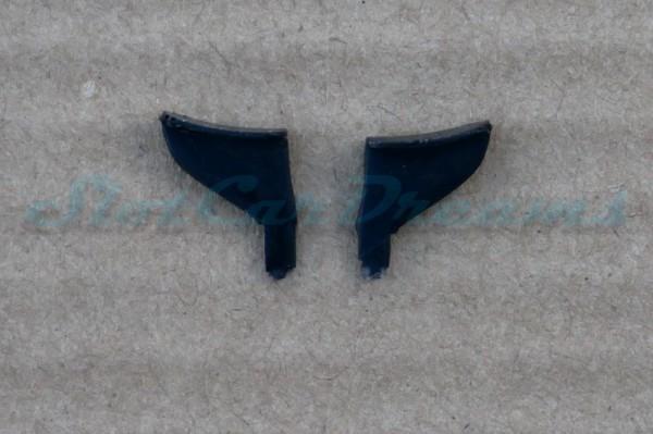 """Carrera 124 Corvette C7.R flexible Heckflügelhalter Schwarz => """"Paar"""""""