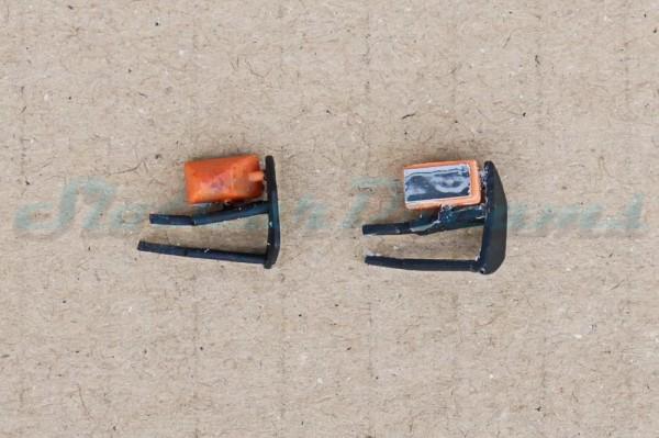 "Carrera 124 Mercedes DTM flexible Spiegel Orange => ""Paar"""