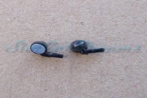 "Carrera 132 Ford Capri flexible Spiegel Schwarz => ""Paar"""