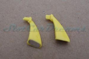 "Carrera 124 Corvette C7.R flexible Spiegel Gelb => ""Paar"""