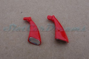 "Carrera 124 Corvette C7R flexible Spiegel Rot => ""Paar"