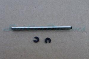 """Slotdevil Achse 3 x 60 mm Zeroglide für Vorderachse mit Nut und Sprengring => """"Stück"""""""