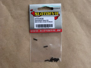 "Slotdevil Madenschraube M2 x 8 mm Innensechskant 0,9 =>  ""Stück"""