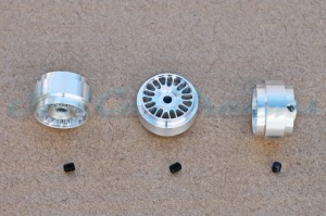 """Slotdevil Stegfelge BBS 16,9 x 10 mm für Achse 2,38 mm ALU => """"Stück"""""""