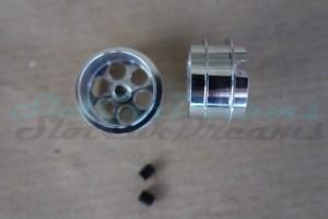 "NSR Stegfelge Airsystem 17,3 x 10 mm für Achse 2,35 mm ALU => ""Paar"""