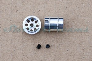 "NSR Stegfelge 12,8 x 13 mm für Achse 2,35 mm ALU => ""Paar"""