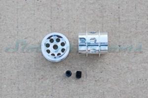 """NSR Stegfelge 12,8 x 13 mm gelocht für Achse 2,35 mm ALU => """"Paar"""""""