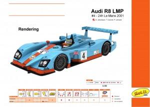 Audi R8 LMP Le Mans 2001 #4