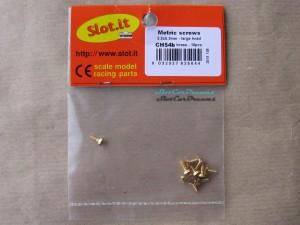 """Slot.it Karosserie Schraube 2,2 x 5,3 mm breiter großer flacher Kopf => """"Stück"""""""