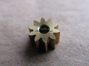 """Slot.it Motorritzel SW/AW 6,5 mm 10 Zähne Messing => """"Stück"""""""