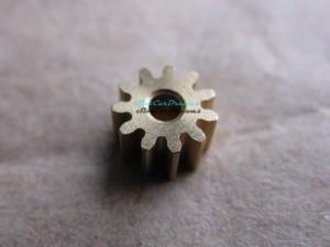"""Slot.it Motorritzel SW/AW 6,5 mm 11 Zähne Messing => """"Stück"""""""