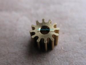 """Slot.it Motorritzel SW/AW 6,5 mm 12 Zähne Messing => """"Stück"""""""