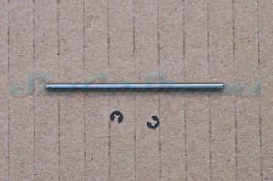 """Slotdevil Achse 2,38 x 55 mm für Vorderachse mit Nut und Sprengring => """"Stück"""""""