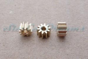 "SCD Motorritzel 6 mm 10 Zähne Messing ""HIGH QUALITY"" => ""Stück"""
