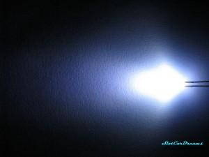"""LED 3 mm Xenon-weiß diffus => """"Stück"""""""