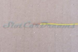 """Kupferlitze 0,14 qmm GELB """"1 Meter"""""""