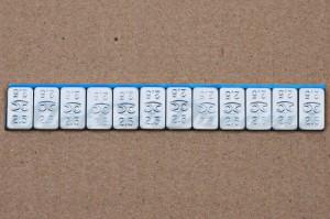 SCD Klebegewicht Stahl 12er Riegel zu á 2,5 g