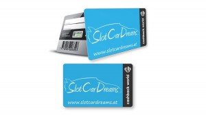 """ SlotCarDreams Cashback World Karte """