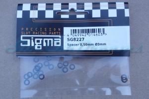 """Sigma Achsdistanz  0,5 mm für 3 mm Achse => """"Set"""""""