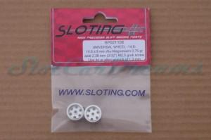 """Sloting Plus Stegfelge 14,6 x 8 mm für Achse 2,38 mm ALU => """"Paar"""""""