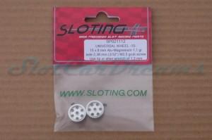 """Sloting Plus Stegfelge 15 x 8 mm für Achse 2,38 mm ALU => """"Paar"""""""