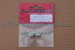 """Sloting Plus Stegfelge 15,5 x 8,5 mm für Achse 2,38 mm ALU => """"Paar"""""""